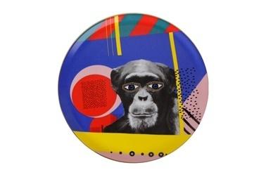 Porland Wild Life Monkey Düz Tabak 28Cm Renkli
